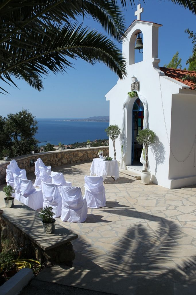 The perfect location for a chapel wedding in Kefalonia, St Christophers Chapel in Kefalonia, for more details contact us on 01925 419 555 or enquiries@thebridalconsultants.com