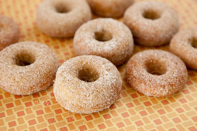 BAKED, Cinnamon Sugar Pumpkin Cake Donuts! This easy homemade recipe makes soft and delicious Pumpkin Sugar Donuts! Recipe makes 1 dozen donuts. One of the BEST Fall Pumpkin dessert recipes! Stop the presses. Stop them please. I had something