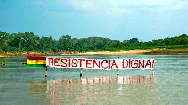 Inhabitants of the TIPNIS national park are protesting a planned road through the rainforest.