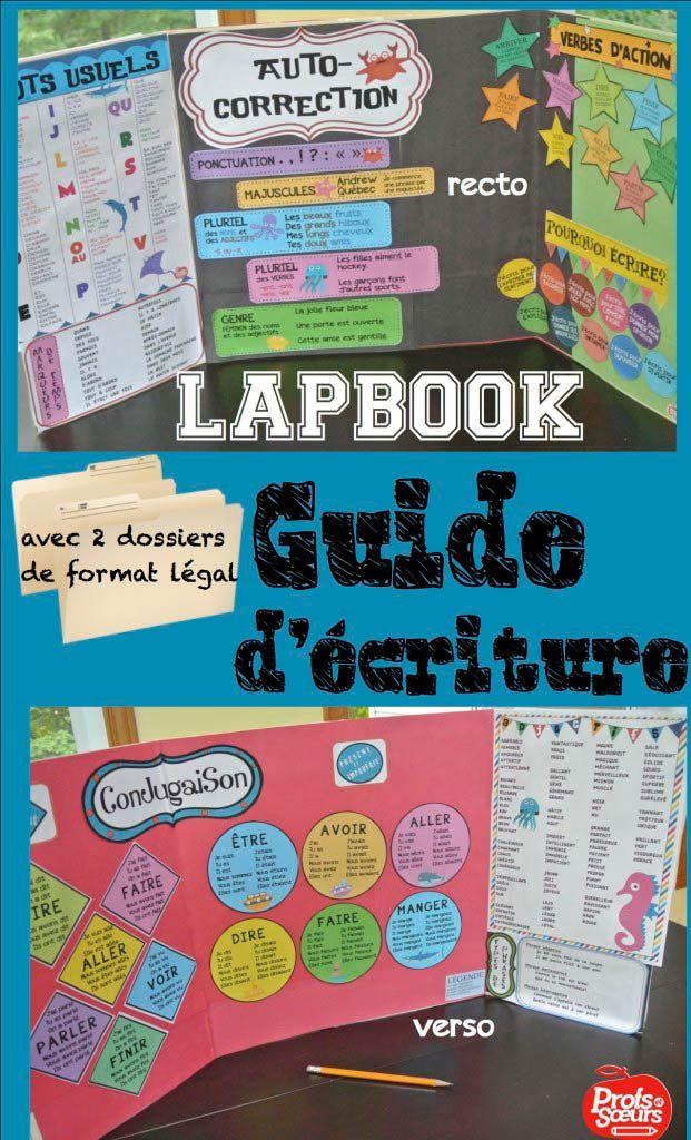 """Guide d'écriture (style """"lapbook"""") pour les élèves."""