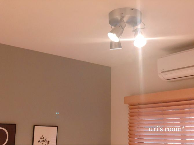 子供部屋 照明を変えました 照明 シーリングライト インテリア 収納