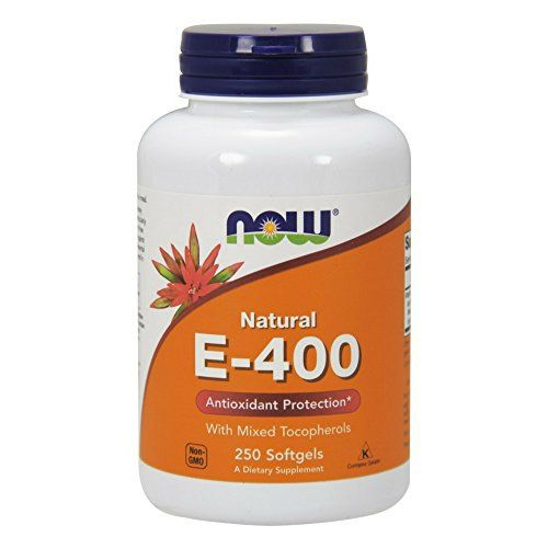 Vitamin E is a major antioxidant and the primary defense against lipid peroxidation. It is particularly important in protecting the body's cells from free radical/oxidative damage. These protective benefits are achievable with supplemental intakes higher than what is normally consumed in... more details at http://supplements.occupationalhealthandsafetyprofessionals.com/vitamins/vitamin-e/product-review-for-now-e-400-vitamin-e-400-iu-mt-softgels-with-mixed-tocopherols-250