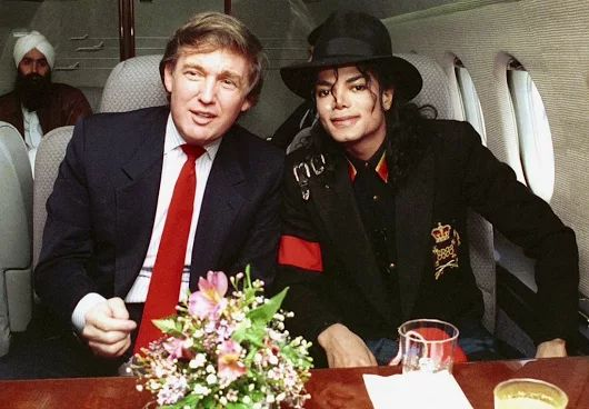 Michael Jackson and Donald Trump in the early 1990's... look a Singh!