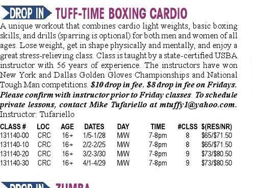 Boxing. Carrolton park rec