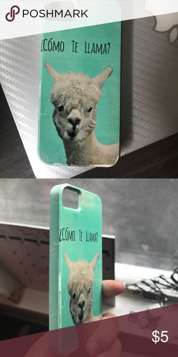 """Como te llama?"" iPhone 5 case From Society 6 website. In great condition. Covers the sides and corners of the phone so it's somewhat protective Accessories Phone Cases"