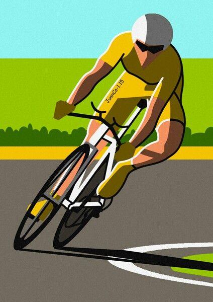 Ciclista, cyclist, cycliste, dibujo, drawing, dessin