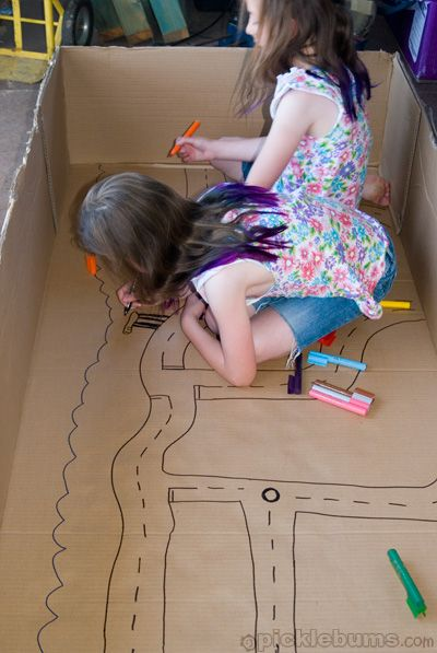 What to do with a big box - when you don't really wan't to do anything at all.