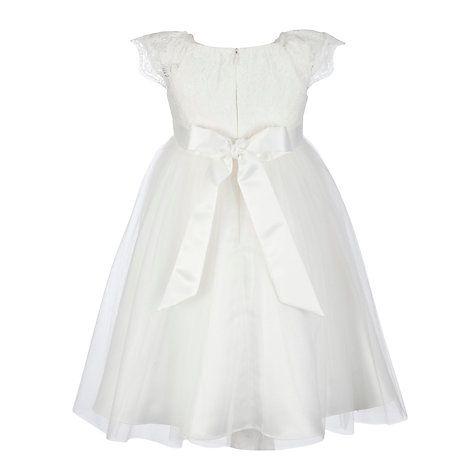 Girls 39 lace mesh bridesmaid dress ivory john lewis for John lewis wedding dresses