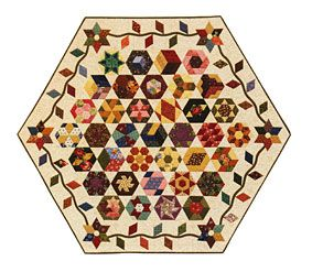 Additional Images of The New Hexagon by Katja Marek - Sharon's  Table Topper pinned from ConnectingThreads.com