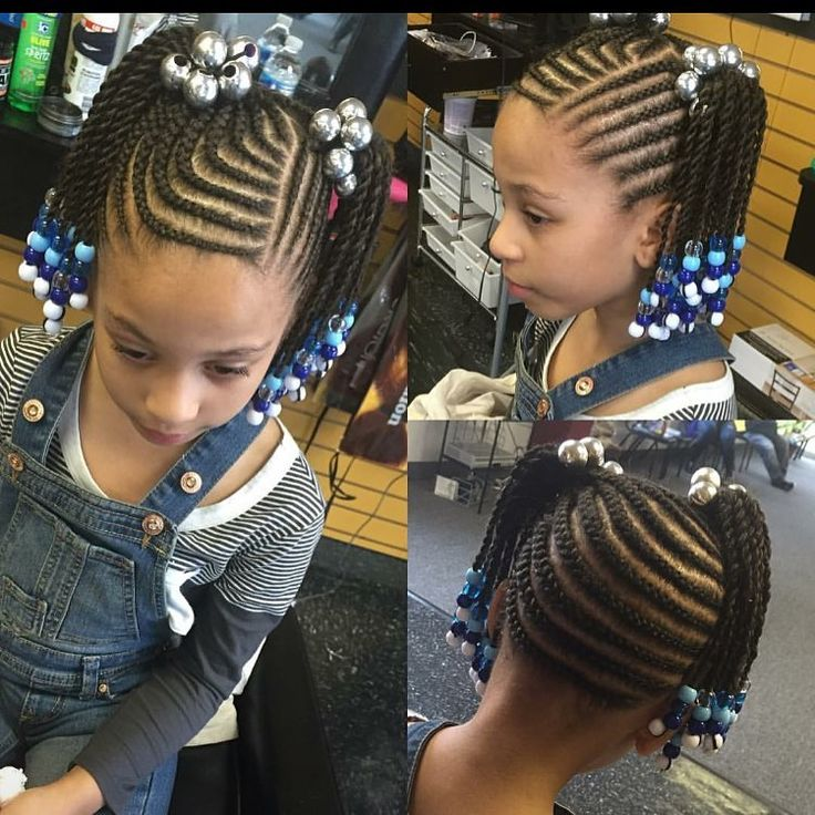 Enjoyable 1000 Ideas About Cornrows Kids On Pinterest Girl Hair Braids Short Hairstyles For Black Women Fulllsitofus