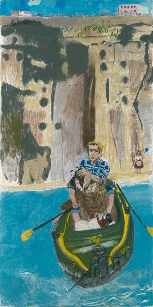 'Rowing from Ericeira' (2014), Paula Rego. Courtesy of Marlborough Fine Art, Photography by Prudence Cumming Associates Ltd http://www.apollo-magazine.com/review-paula-regos-powerful-pastels-marlborough-fine-art/