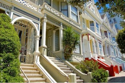 San FranciscoPlaces To Visit, Victorian House, Fran House, Unique Architecture, Victorian Style Home, Victorian Townhouse, Landscapes Design, San Francisco, Amazing Architecture