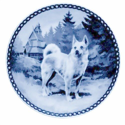 Norwegian Buhund / Lekven Design Dog Plate cm /7.61 inches Made in Denmark NEW with certificate of origin PLATE