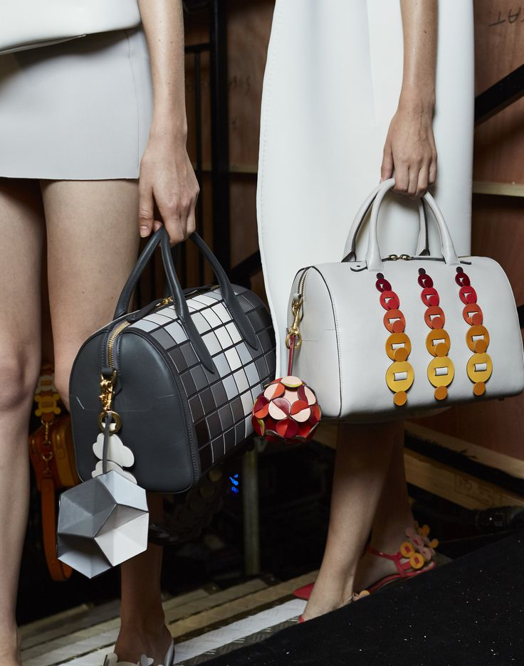 Backstage at Anya Hindmarch Spring Summer 2017 Handmade Handbags & Accessories - amzn.to/2ij5DXx Handmade Handbags & Accessories - http://amzn.to/2iLR27v