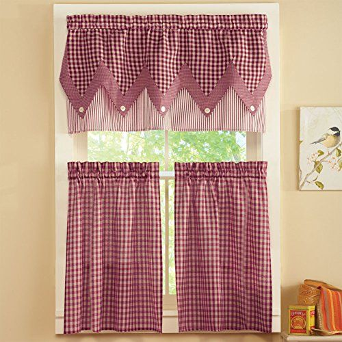 17 Best Ideas About Red Kitchen Curtains On Pinterest