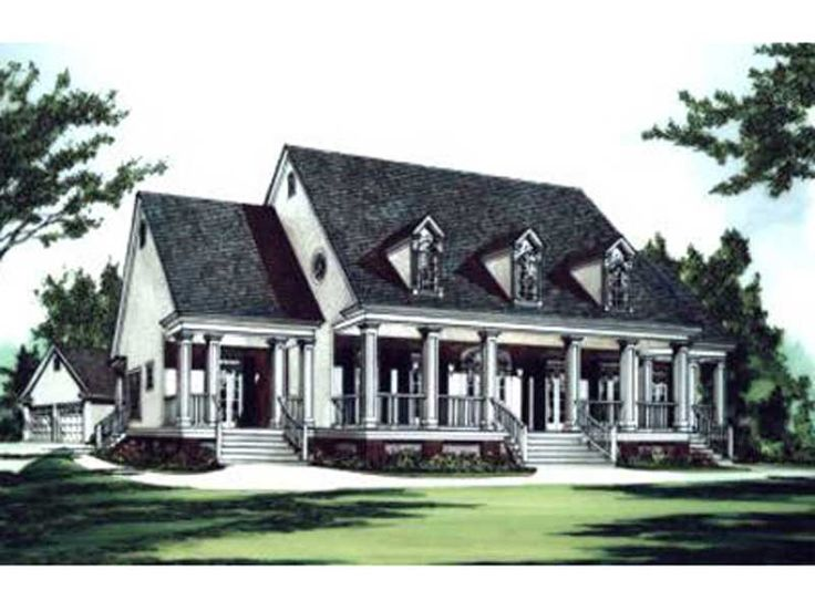 southern plantation homes | Green Hills Plantation Home Plan 024D-0623 | House Plans and More