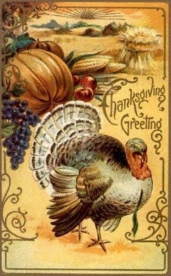 MAY ALL SEASONS BE SWEET TO THEE: Vintage Thanksgiving Greeting Cards