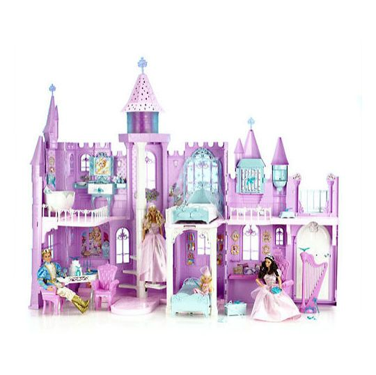 2003 barbie of swan lake musical fantasy castle