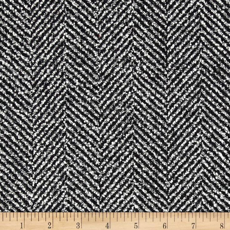 Wool Blend Herringbone Boucle Black. Fabric.com For JCrew look a like vest with bias tape for edging and gold zipper?