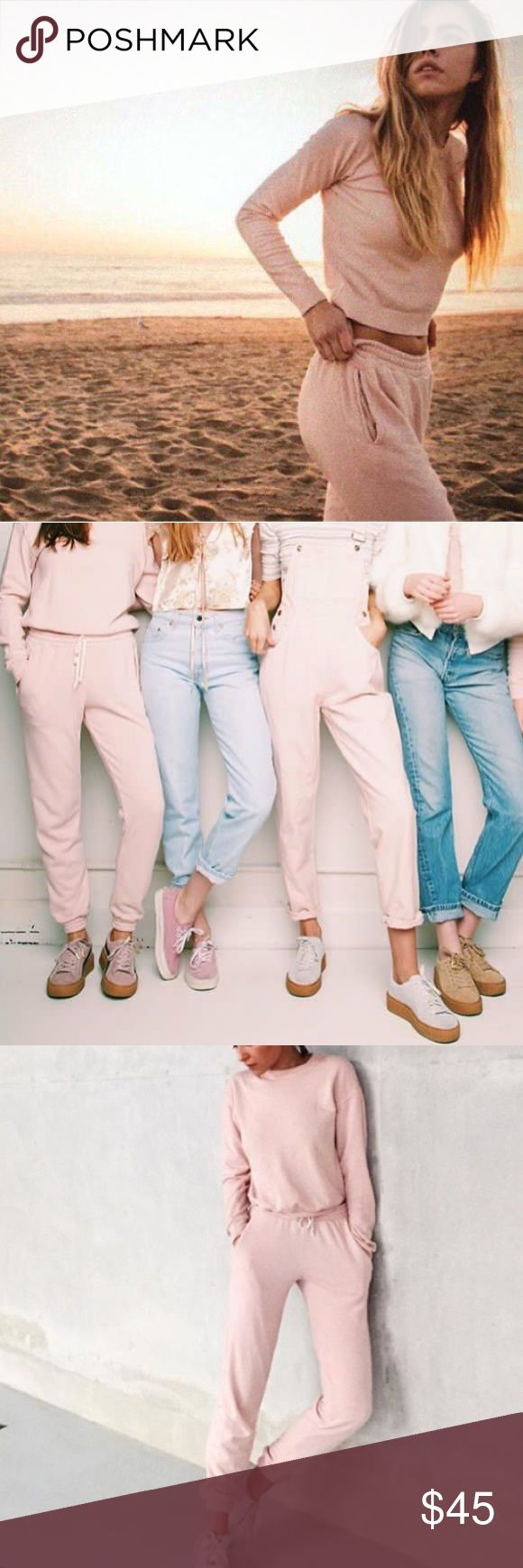 Brandy Melville light pink rosa sweatpants new Brand new with tags best for a size small! Brandy Melville Pants Track Pants & Joggers