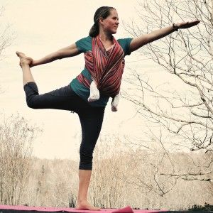 Yoga while babywearing - sheer loveliness!