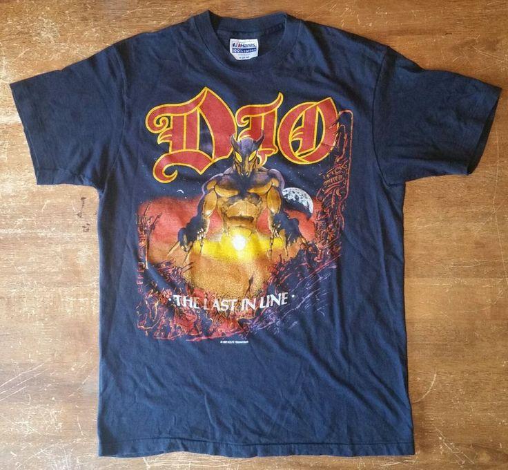 Mens Vintage Black Medium Dio The Last in Line Tour Heavy Metal Concert T-Shirt | Clothing, Shoes & Accessories, Men's Clothing, T-Shirts | eBay!