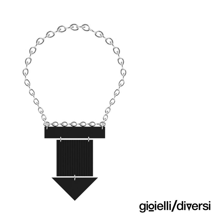 new necklace from different textures of black pvc