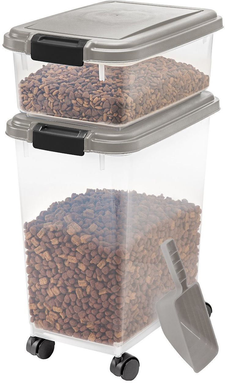 Amazon 3 piece airtight pet food storage container combo