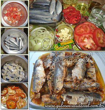 Gosta de sardinha? Nós amamos... Vem ver a receita de Sardinha de Escabeche na Panela de Pressão é maravilhosa, prática e econômica!  #Receita aqui: http://www.gulosoesaudavel.com.br/2011/06/27/sardinhas-de-escabeche-na-panela-de-pressao/