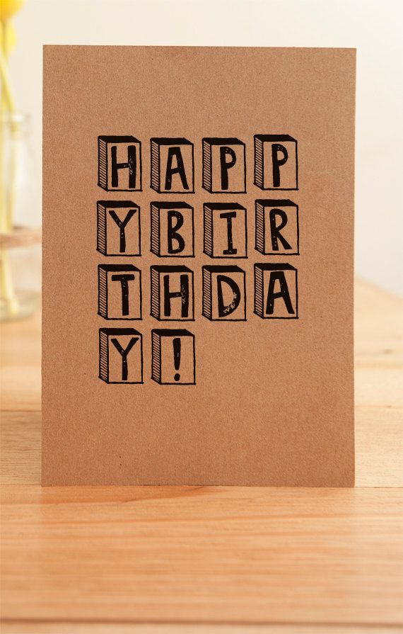 Happy Birthday Card Illustrated by LittleRedPressCards on Etsy, $4.00