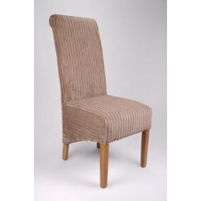 Krista Jumbo Cord Dining Chair Mink  www.easyfurn.co.uk