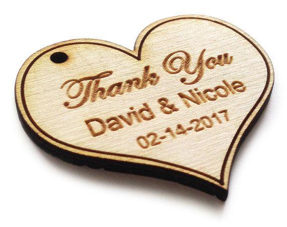 80 étiquettes coeur de bois, décor rustique personnalisé, étiquette de cadeau de faveur du parti, étiquettes de cadeaux de mariage, cadeau mariage Etiquettes, bois tags-MADE IN USA