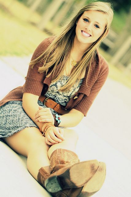 senior pics :) - all you need to do is write the year on the bottom of the boots!