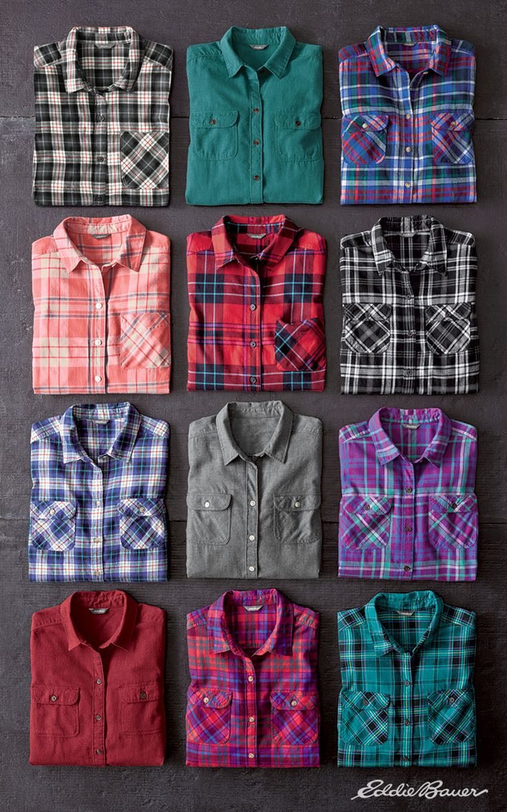 It's #flannel season. Stine's Favorite Flannel starts with an exceptional cotton fabric, and brushes it on both sides for ultrasoft comfort. Finished with two button-through flap pockets and a flattering fit.