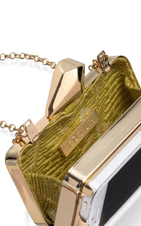 Kotur #Getsmartbag In Silver With Gold Hardware by Kotur for Preorder on Moda Operandi