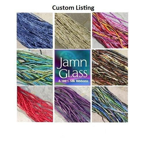 Silk Cords Custom You Pick Colors Hand Dyed Hand 6 by Jamnglass