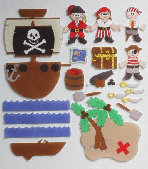 A Pirates Life ePattern for Print and Play Felt by CopyCrafts