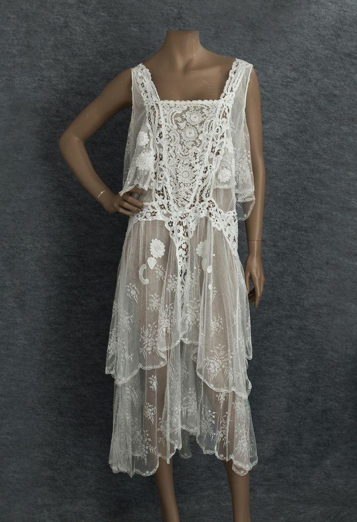 ~1920s lace tea dress~