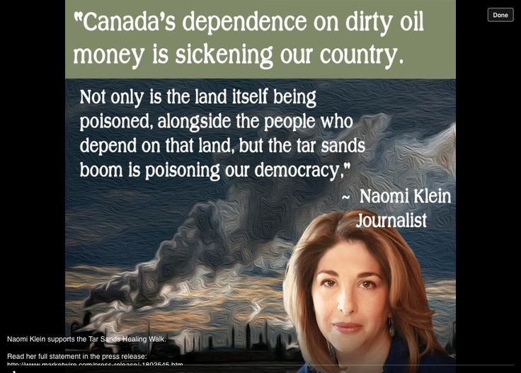 Image result for canada's dependency on dirty oil money naomi klein