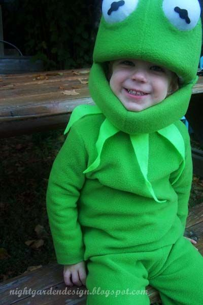 hi ho, kermit the frog here!  Awesome handmade costume!