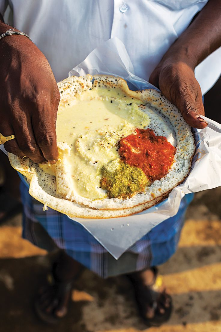 Dosas (South Indian Fermented Lentil and Rice Crêpes)   SAVEUR These savory crêpes, made with pounded, soaked rice and black lentils, are a go-to comfort food for almost everyone hailing from south India.