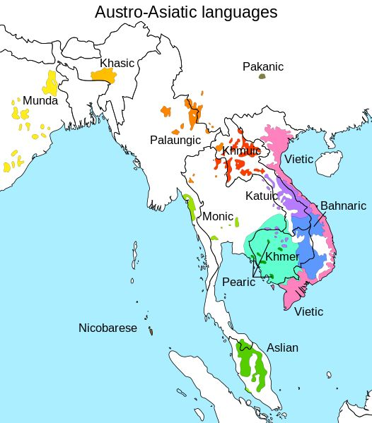 austro-asiatic language family (includes vietnamese and khmer)