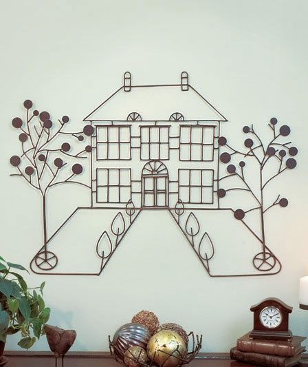 Metal home wall art abc distributing home decor for Accent tree for corner of house