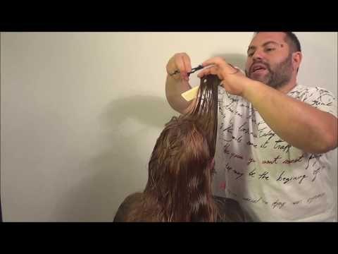 COMO DEGRADAR UN CABELLO SIN PERDER EL LARGO, HOW TO DEGRAD A HAIR WITHOUT LOSING THE LONG - YouTube
