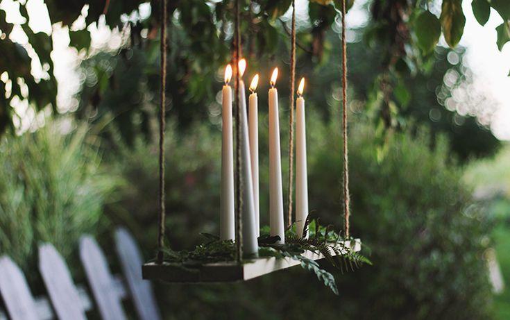 Hanging Candle Chandelier | AllFreeDIYWeddings.com