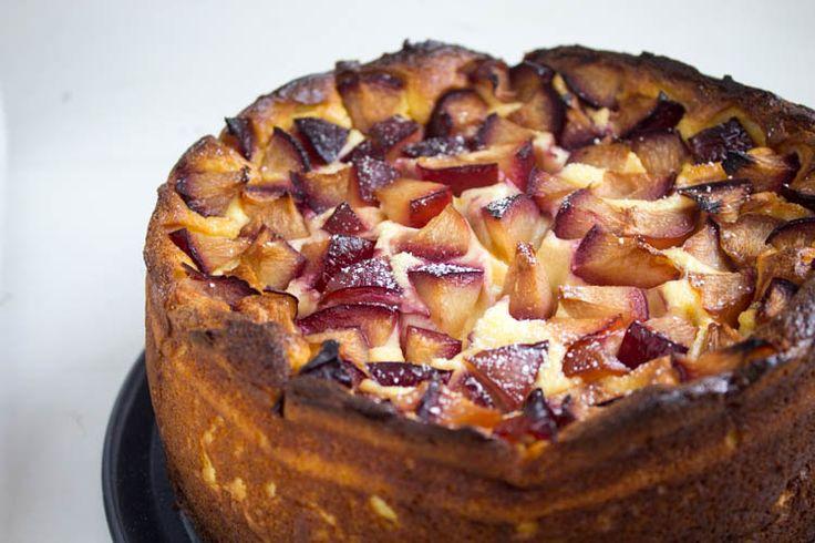 Käsekuchen mit Pflaumen Kuchen, Desserts ohne backen und