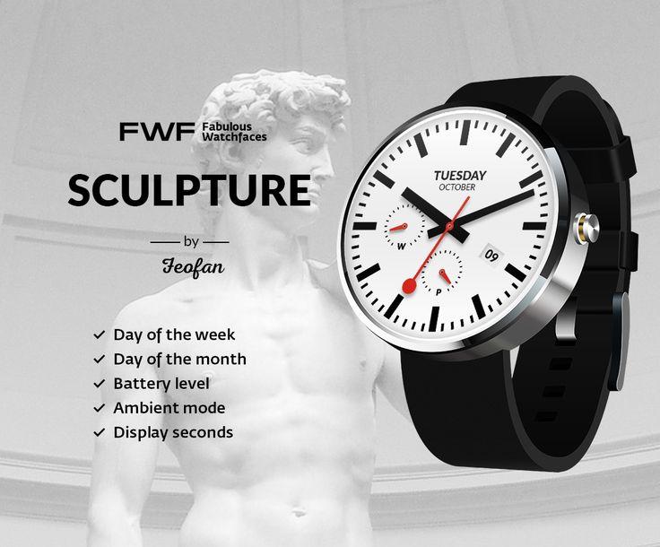 Sculpture watch face by Feofan / #fwf #fabulouswatchfaces #androidwear #moto360 #huaweiwatch #tagheuer #huaweiwatch #smartwatch #watchface