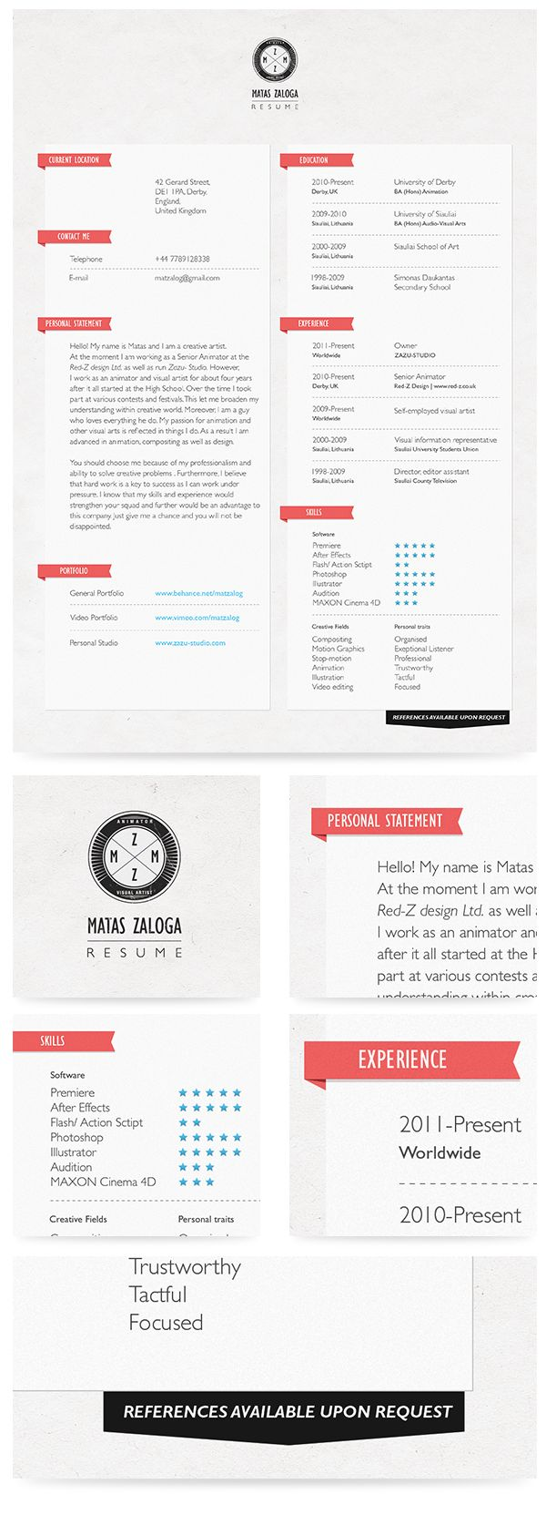 63 best CVs images on Pinterest | Graph design, Infographic and Page ...