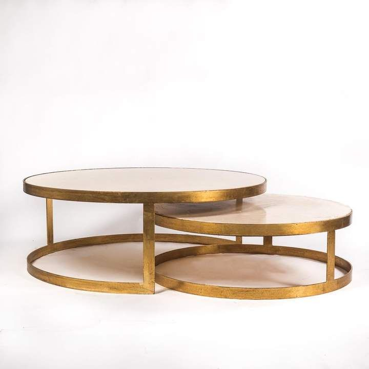 Mortimer Gold And Marble Coffee Tables Set/2 #affiliate