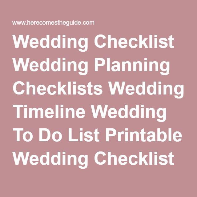 Más de 25 ideas bonitas sobre Printable wedding planning checklist - wedding planning checklist